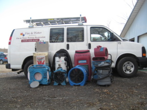 equipment and van